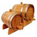 Бочка дубовая, ЭКСПОРТ 2 на 3, 5, 10, 15 литров.