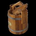Кадка дубовая для засолки (нержавейка обруч) от 3 до 100 литра  БОНПОС