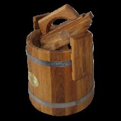 Кадка дубовая для засолки (обруч нержавейка) от 3 до 100 литра