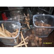 КУБИКИ (средний обжиг) Щепа дубовая кубической формы /ПРЕМИУМ/ 150 гр.