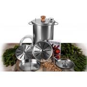 Электрокоптильня горячего копчения 20 литров -  тип ДЫМОК, HANHI,Zolinger