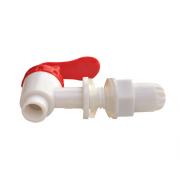 Кран пластиковый нажимной (белый) 12, 17мм